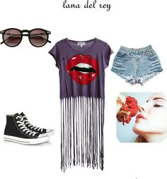 """""""Lana Del Rey inspired Outfit :)"""" by borntodiebaby ❤ liked on Polyvore"""