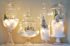 GlowingSnowGlobes | 15 Awesome Christmas Light Decorating Ideas