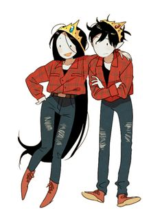 adventure time, marceline and marshall lee image