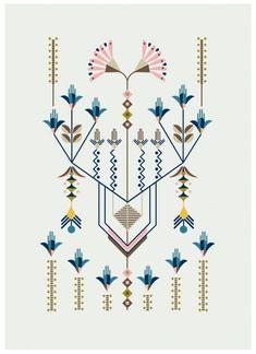 Flower Series, illustration by Carolina Melis - linhas e flores: http://www.carolinamelis.net/