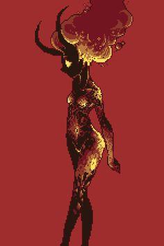 Pixel Art Lava Girl