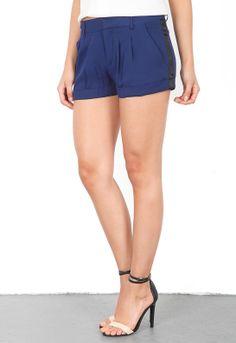 Haute Hippie Trouser Short with Tux Stripe in Midnight/Black  $245