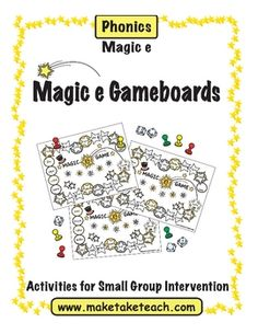 Perfect activity for your literacy centers!  Four Magic e gameboards will keep your students engaged during independent work stations or during sma...