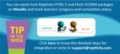 Tip of the Week:Integrate Raptivity with Moodle
