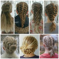 """What's common with all these braids? // Mitä yhteistä näillä leteillä on? ○ ○ They all use the technique of feathering, a much requested tutorial on a…"""
