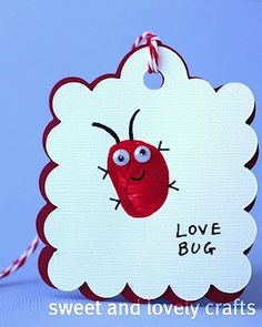 Sweet And Lovely Crafts finger print love bug cards