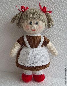 """Купить """"Школьные друзья"""" вязаные куклы - вязаная игрушка, вязаная кукла, мальчик, девочка, школьники ♡"""