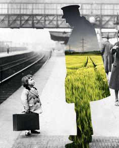 Através de colagens vintage, fotógrafa questiona relação entre natureza e…