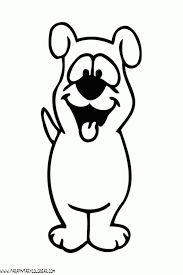 Ilustracin de dibujos animados Perro con su hueso grande