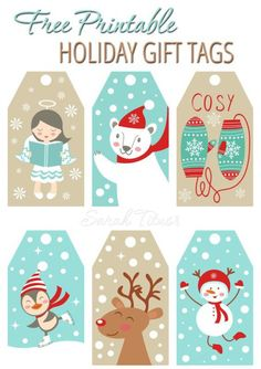 Free Printable Holiday Gift Certificates A Free Set Of Cute Diy Christmas Gift Tags To Print Out.click On .