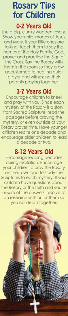 This is a fantastic guide to teaching your children to love the rosary from a young age. It has appropriate steps for each age range!