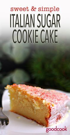 Italian Sugar Cookie Cake - A delicious way to hack a box of cake mix!