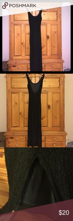 Adorable lace dress  Worn once! Slit in the back with laced material. Open to negotiation! Thanks for looking  Dresses