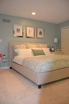 Jessica Stout Design Glamour Meets Spa Retreat Master Bedroom Quietude Sherwin