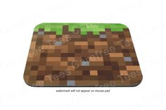 Minecraft Mouse Pad - A mousepad for Mine Craft enthusiasts! Grass Block +more.. or maybe this one?