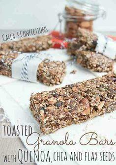Quinoa flax bars