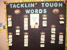 Sports themed classroom - I love this as a word wall!