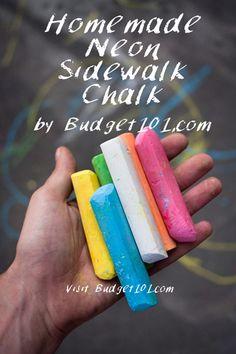 Homemade Sidewalk Chalk Recipe - Chalk Art İdeas in 2019 Sidewalk Chalk Recipe, Homemade Sidewalk Chalk, Sidewalk Chalk Art, Homemade Face Paints, Homemade Paint, Homemade Crafts, How To Make Homemade, Craft Projects For Kids, Diy For Kids