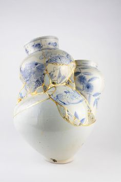 Kintsugi (金継ぎ?) (Japanese: golden joinery) or Kintsukuroi (金繕い?) (Japanese: golden repair) is the Japanese art of fixing broken pottery with a lacquer resin sprinkled with powdered gold.