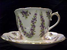 Royal Albert Grey Chiffon Tea Cup and Saucer