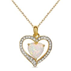 Ebay NissoniJewelry presents - 1/7CT Diamond w/ Created Opal 10k Y/Gold Pendant    Model Number:PV6344C-Y053COP    http://www.ebay.com/itm/1-7CT-Diamond-w-Created-Opal-10k-Y-Gold-Pendant-/222062701379