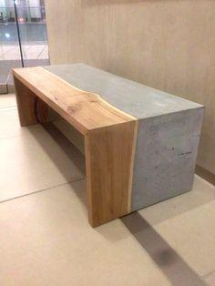 elm + concrete table - Concrete Pig