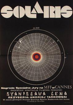 Movie poster for Soviet-Era Sci-Fi film based on the novel Solaris by Polish author Stanisław Lem. Solaris on Wikipedia Polish Movie Posters, Polish Films, Stanley Kubrick, Film Movie, Poster S, Poster Prints, Art Print, Film Science Fiction, Fiction Film