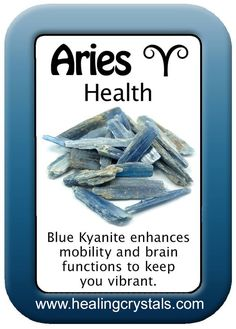 ARIES HEALTH CARD  http://www.healingcrystals.com/advanced_search_result.php?dropdown=Search+Products...&keywords=Blue+Kyanite  Code HCPIN10 = 10% off
