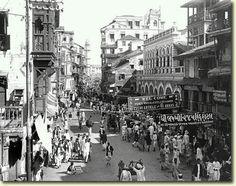 Bombay pearl bazaar road in 1912