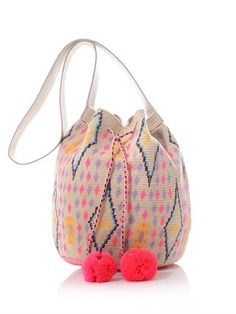 StyleNest roundup the best bucket bags Tapestry Bag, Tapestry Crochet, Diy Crochet Bag, Mochila Crochet, Sophie Anderson, Ethnic Bag, Trendy Handbags, Knitting Kits, Summer Accessories