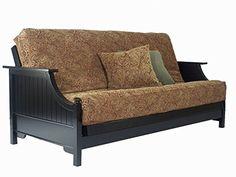 Devonshire Black Queen Wall Hugger Futon Frame by Strata Furniture