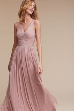 best friend | Fleur Dress in Rose Quartz from BHLDN