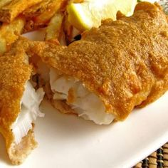 Fish in cheese batter.