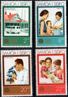 Samoa 1973 25th Anniversary of W H O Set Fine Mint SG 413 6 Scott 387 90 Condition Fine MNH Only one post charge applied on multipule purchases