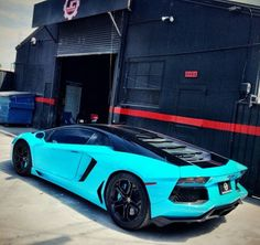 Chris Brown Lamborghini Blue