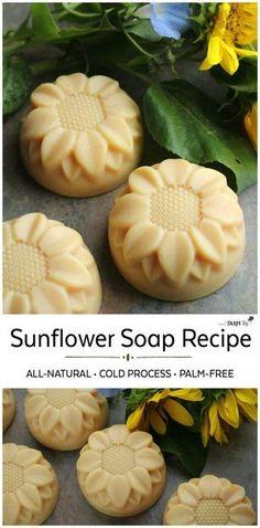 Natural Sunflower Soap - Cold Process Recipe