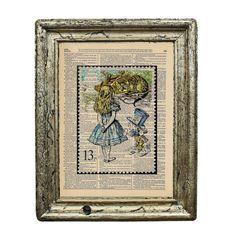 John Tenniel Alice in Wonderland Vintage Stamp Print by AvantPrint, $7.00