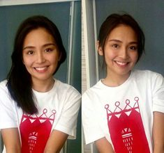 This is the pretty Kathryn Bernardo smiling for the camera while doing a selfie to herself without any makeup. Indeed, Kathryn looks pretty with makeup or without makeup. #KathrynBernardo #TeenQueen