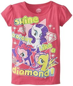 c539763d Extreme Concepts Little Girls My Little Pony Shine Bright Like A Diamond Tee  Fuchsia 5/