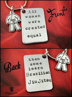 BJJ Keychain, Jiu Jitsu Keychain, Empowering Keychain, BJJ Girls, Martial Arts, Brazilian Jiu Jitsu, bjj, MMA Keychain, Custom Keychain, Gi