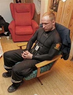 Photo of Norway killer Anders Behring Breivik minutes after arrest - PhotoBlog