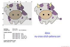 Milka chocolate baby cow small cross stitch pattern