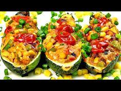 Non hai mai mangiato zucchine così buone! Facile e veloce da preparare! - YouTube Stuffed Zucchini, Salads, Vegetables, Youtube, Food, Entrees, Meals, Zucchini, Thermomix