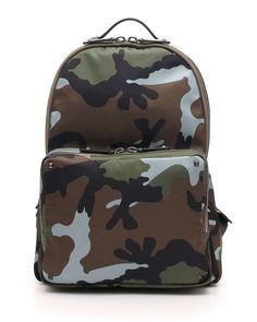 Men's Camo Nylon Backpack, Dark Green