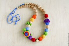 Nursing necklace / Breastfeeding Teething necklace by kangarusha, $40.00