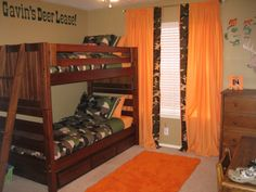 Not crazy about the wall paintings, but Love the orange with the camo!!