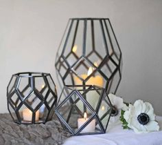 Geometric Terrarium Wedding Centrepiece