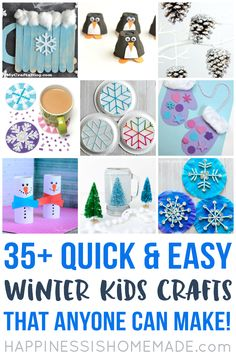 Creative Winter Crafts Ideas that Make Your Snow Day Stay On You . Creative Winter Crafts Ideas that Make Your Snow Day Stay On You . these Quick and Easy Winter Kids Crafts Can Be Made In Under Winter Crafts For Kids, Winter Kids, Crafts For Kids To Make, Crafts For Teens, Projects For Kids, Kids Crafts, Art Projects, Quick Crafts, Room Crafts