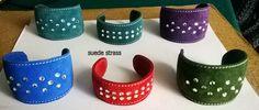 bracelet in suede with strass www.fuocoariaacqua.com