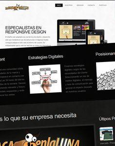 La Vaca en la Luna: nuevo website. Go Responsive! Lanzamiento de la nueva web de La Vaca en la Luna. Esta nueva propuesta minimalista simplifica el acceso a la información y está desarrollada bajo  las normas de Responsive design.